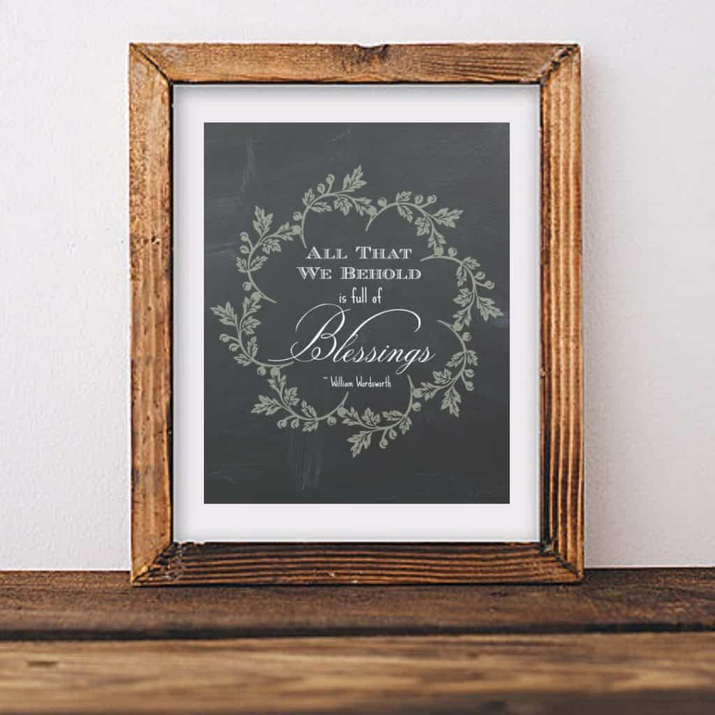 All that we behold is full of blessings printable