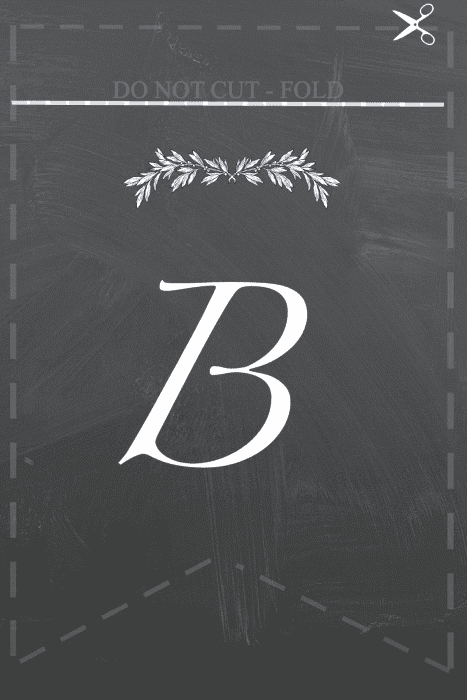 B Free printable Blessings  banner