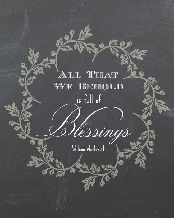 Behold Blessings Printable