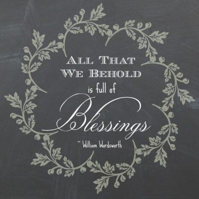 "Free Printable: ""All That We Behold"""