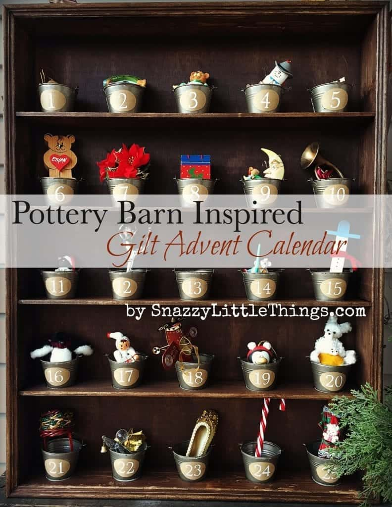 Pottery Barn Gilt Advent Calendar Knock Off