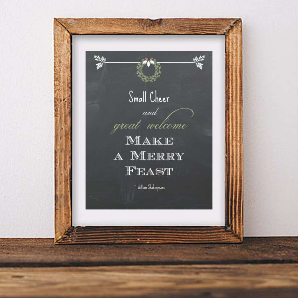 Shakespeare Quote for Holidays by Snazzy Little Things
