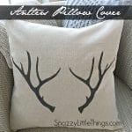 Antler pillow + free printables