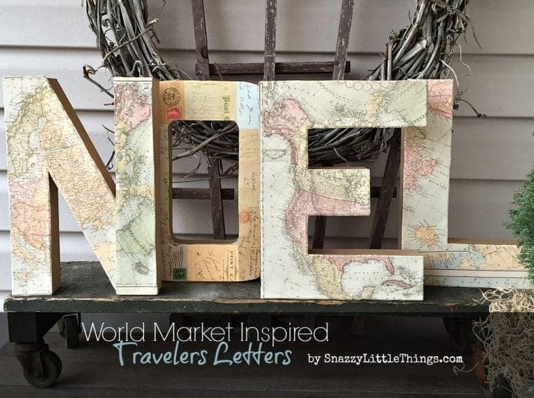 "World Market ""Inspired"" Traveler Letters"