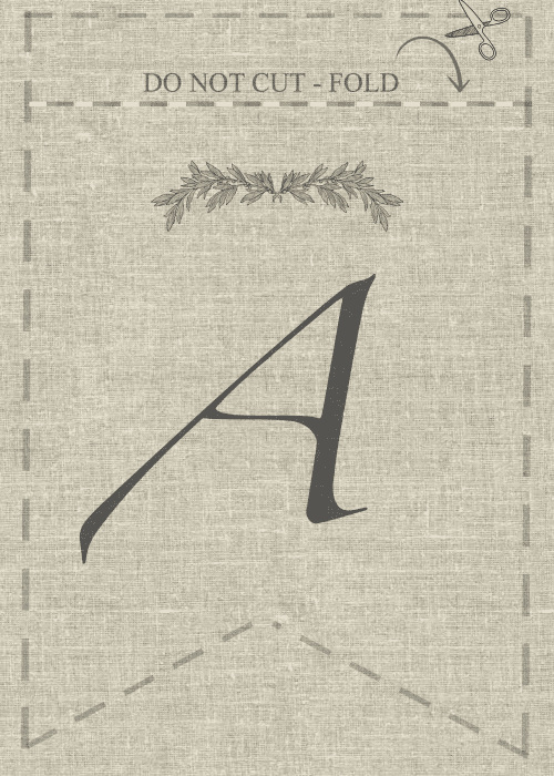 Free Printable -  A, DIY, decor and crafts