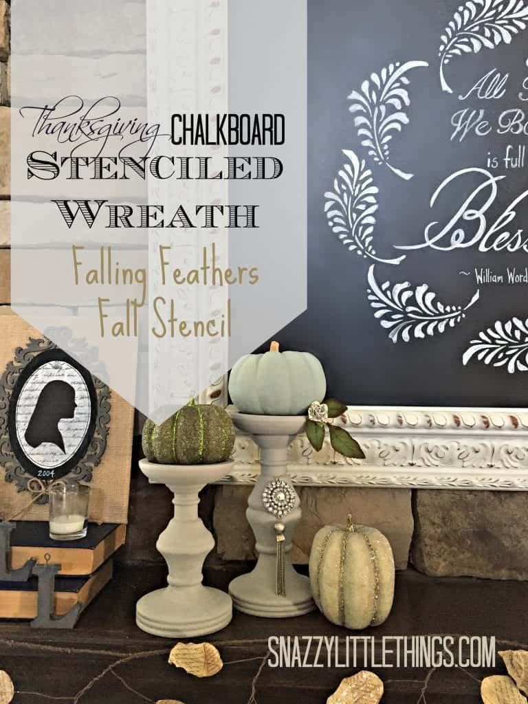 DIY: Stenciled Chalkboard Wreath