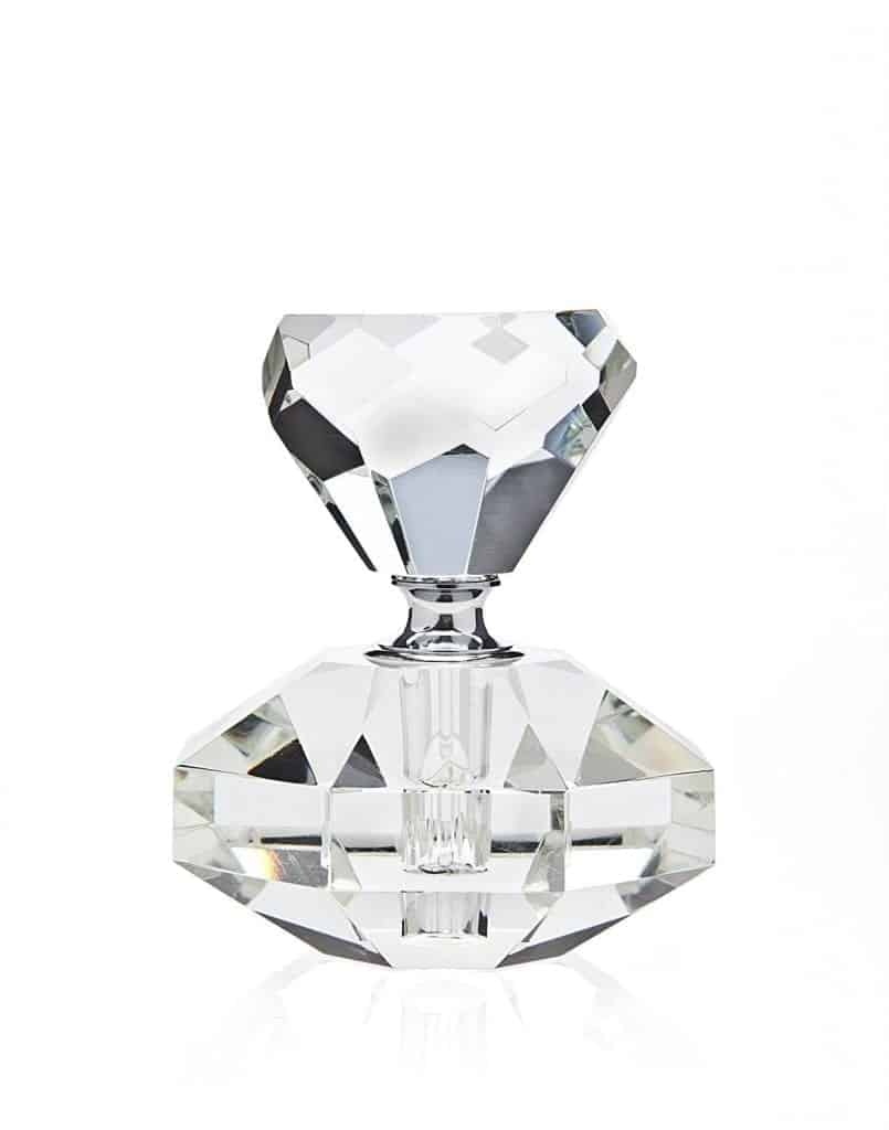 Diamond Shaped Small Crystal Perfume Bottle