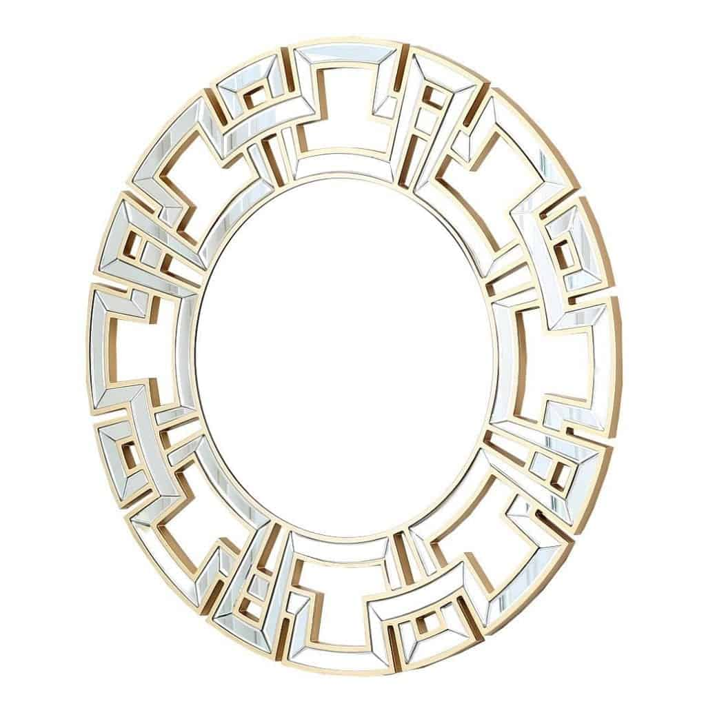 Abbyson Living Zentro Round Wall Mirror, Gold