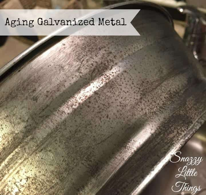 Aging Galvanized Metal Sponging Technique