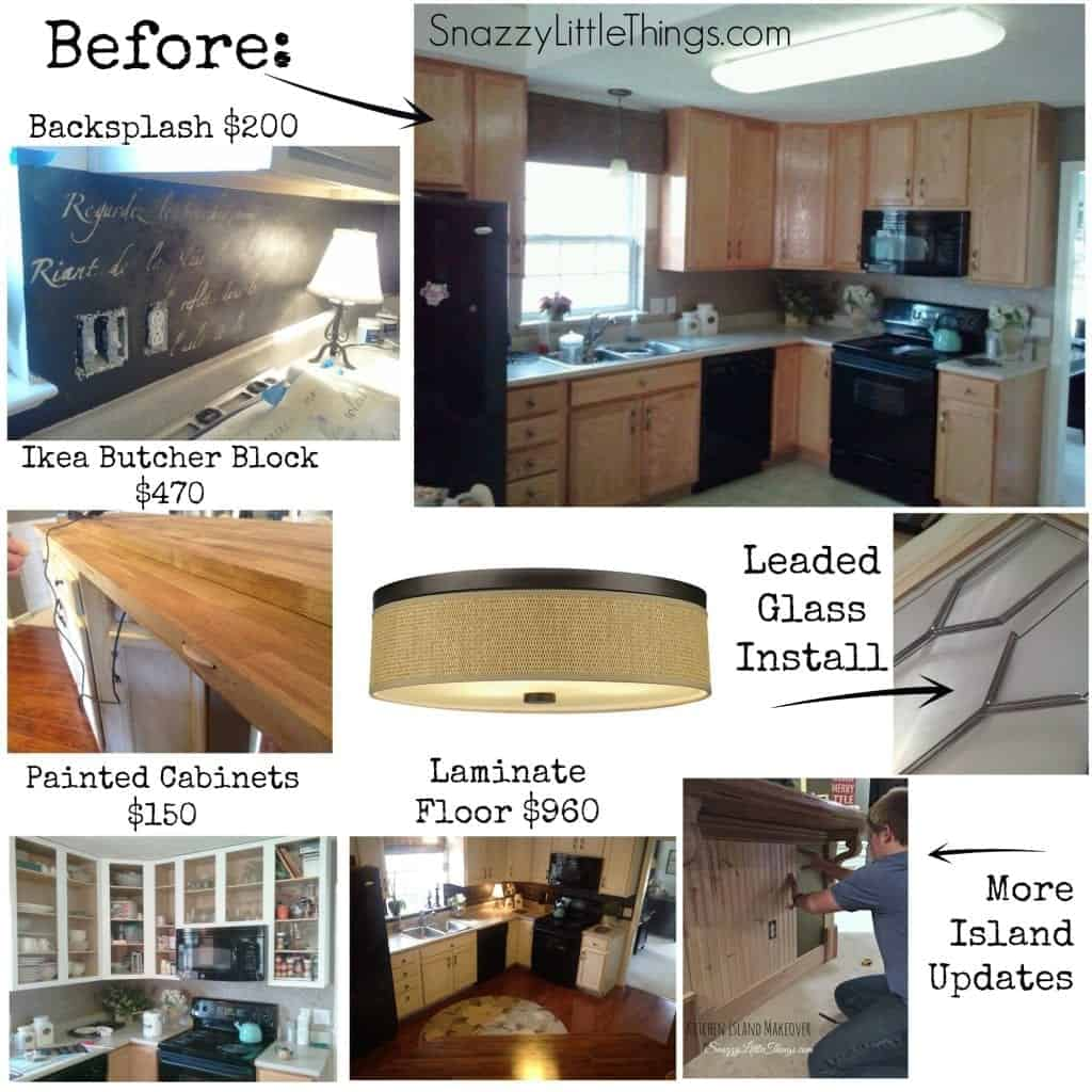 Budget Kitchen Remodel Collage