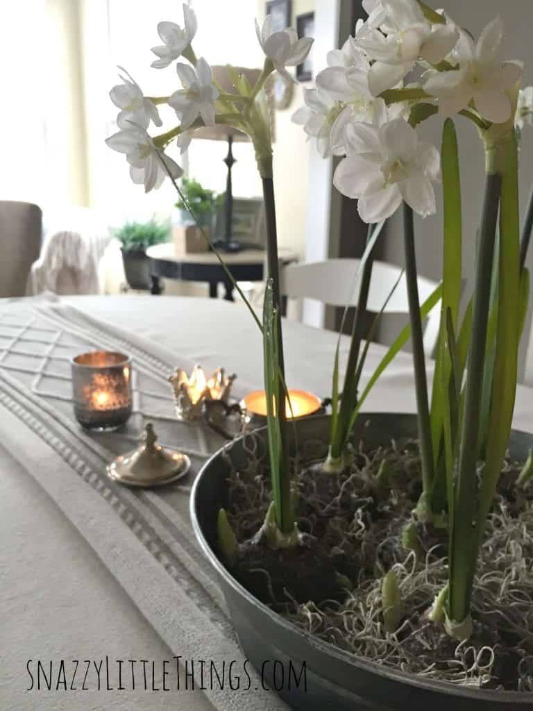DIY Aged Galvanized Metal Centerpiece