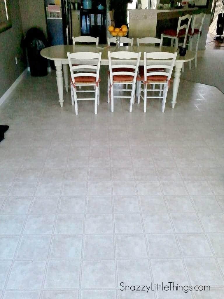 Floor before wood laminate installation