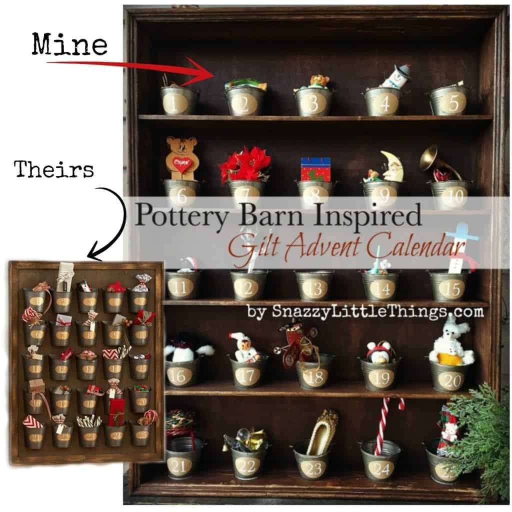 Pottery Barn Gilt Advent Calendar Collage