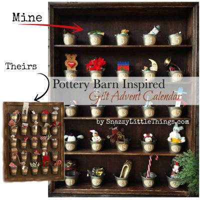 "Pottery Barn Gilt Advent Calendar - this was one of my ""Top 10 Projects of 2014""  by SnazzyLittleThings.com"