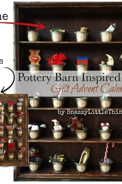 """Pottery Barn Gilt Advent Calendar - this was one of my """"Top 10 Projects of 2014""""  by SnazzyLittleThings.com"""