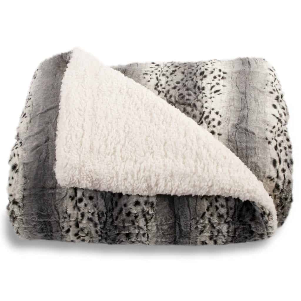 Safari Faux Fur Plush Blanket
