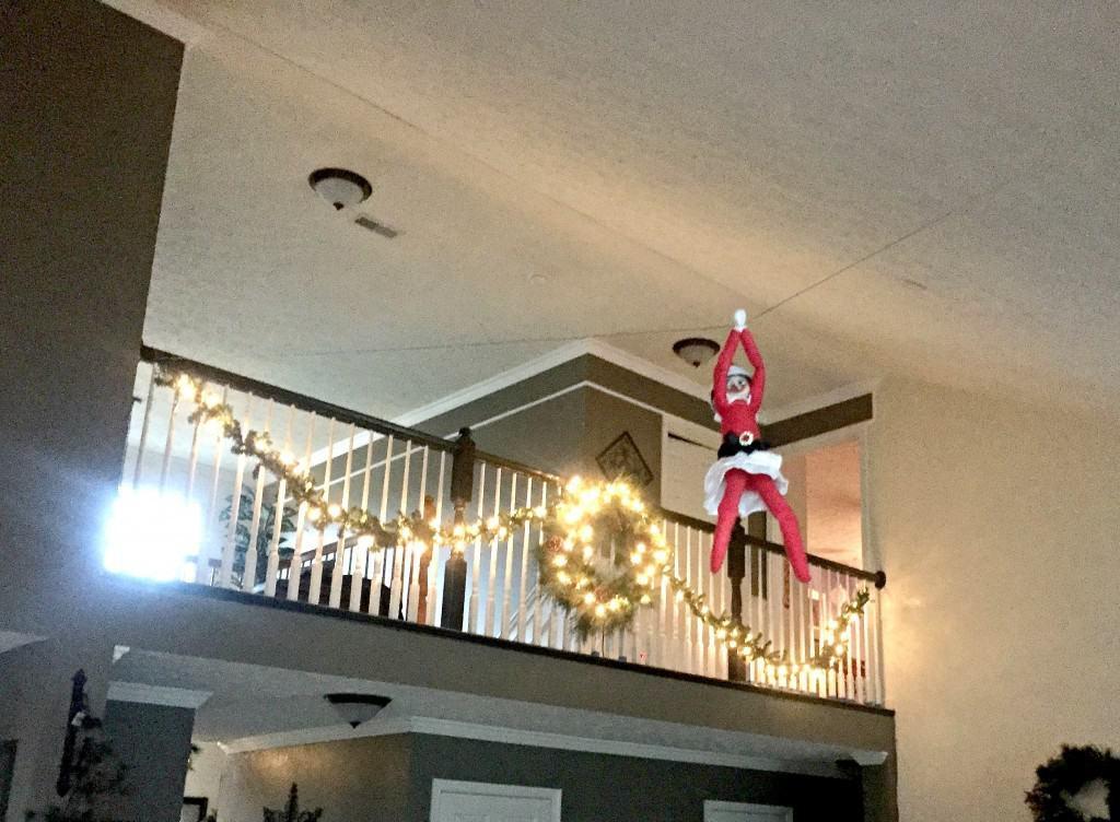 Ziplining Elf