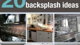 20 Budget Friendly Backsplash Ideas | By Hometalk.com and SnazzyLittleThings.com