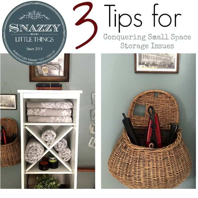 3 Tips: Conquer Small Space Storage