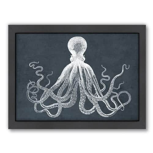 Americanflat-Octopus-Framed-Graphic-Art-in-Muted-Sea | by SnazzyLittleThings.com