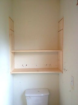 Built in shelving in progress