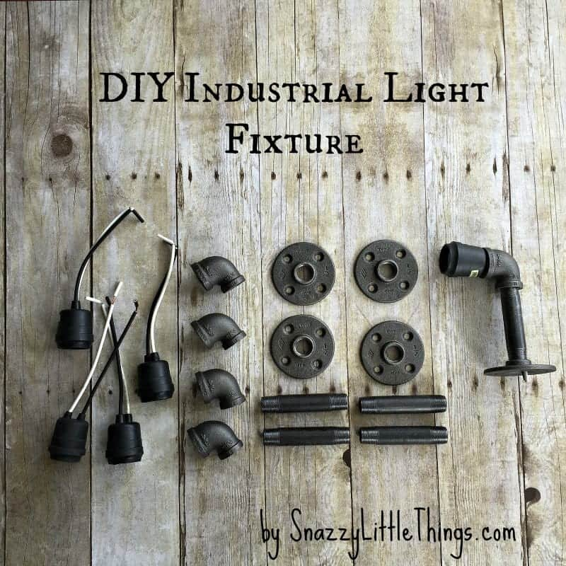 DIY Industrial Light For Vanity - Wood bathroom light fixtures