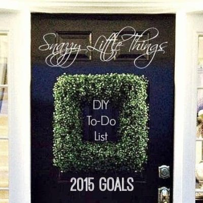 DIY To-Do List 2015, by SnazzyLittleThings.com