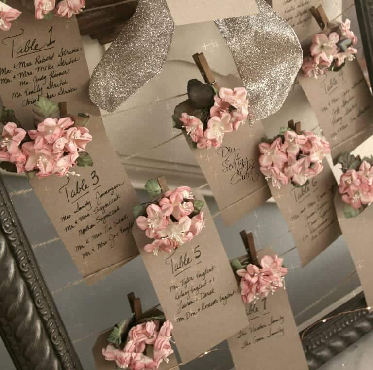 Diy vintage wedding seating chart craft diy seating chart finished solutioingenieria Images