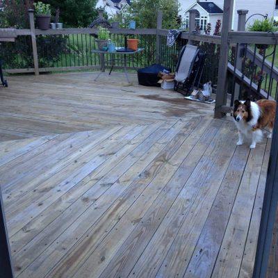 Deck Before Powerwashing