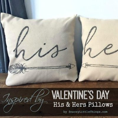 "How to make ""His + Hers"" Arrow Pillow Covers"