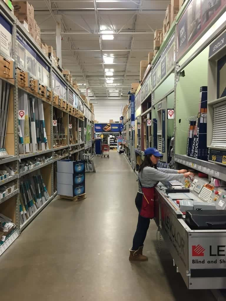 Lowes Levelor Aisle