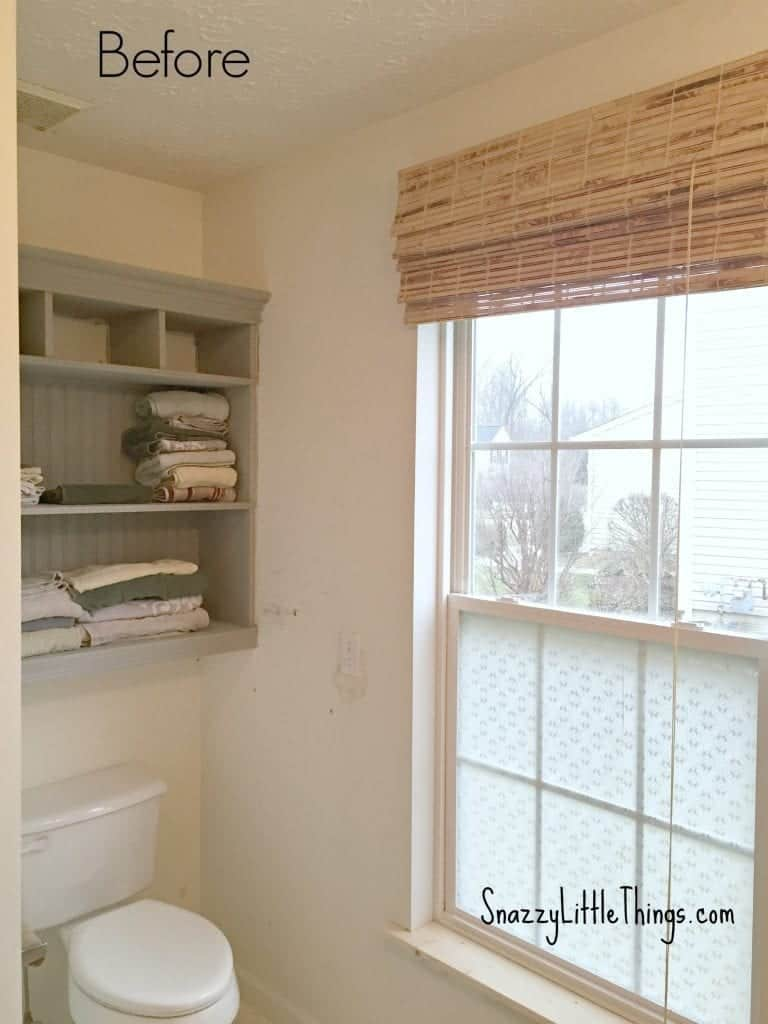 Part I: Upgrading Our Builders Grade Bathroom - by SnazzyLittleThings.com