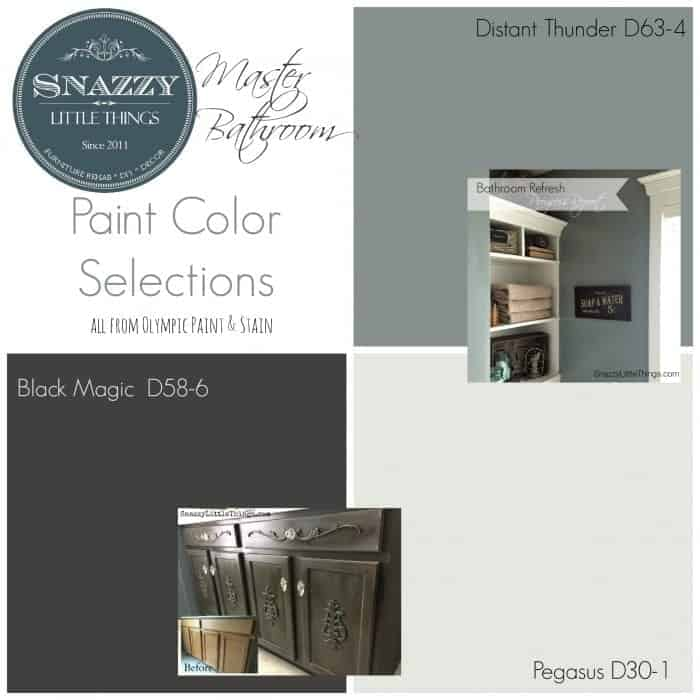 Paint Colors in our Master Bath | by SnazzyLittleThings.com