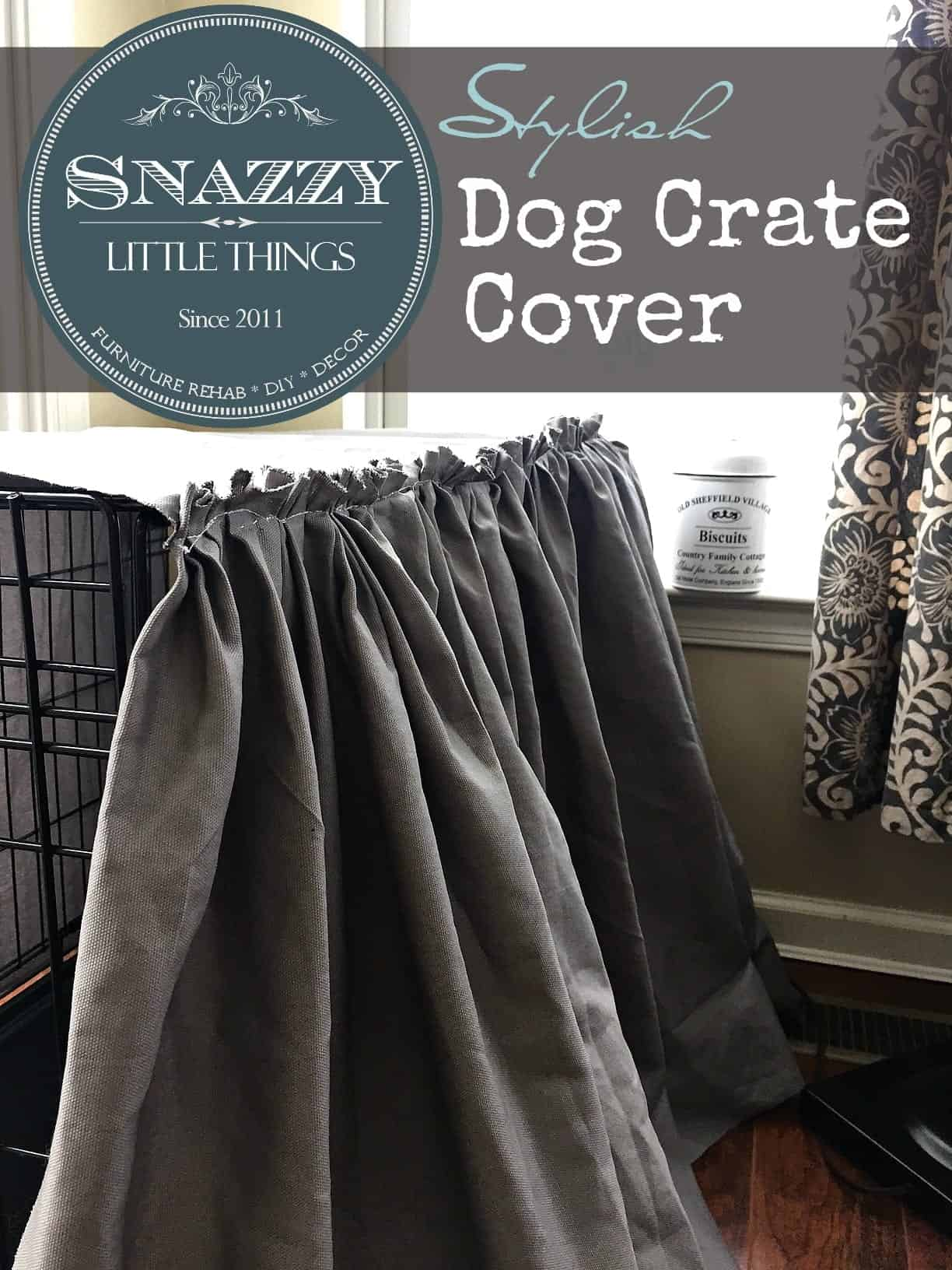 Make a Beautiful Ruffled Dog Crate Cover | by SnazzyLittleThings.com