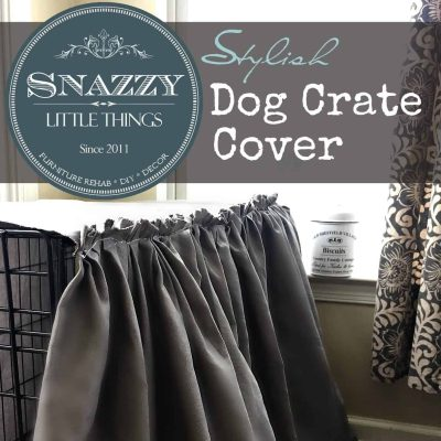 Sq Ruffled Dog Crate Cover
