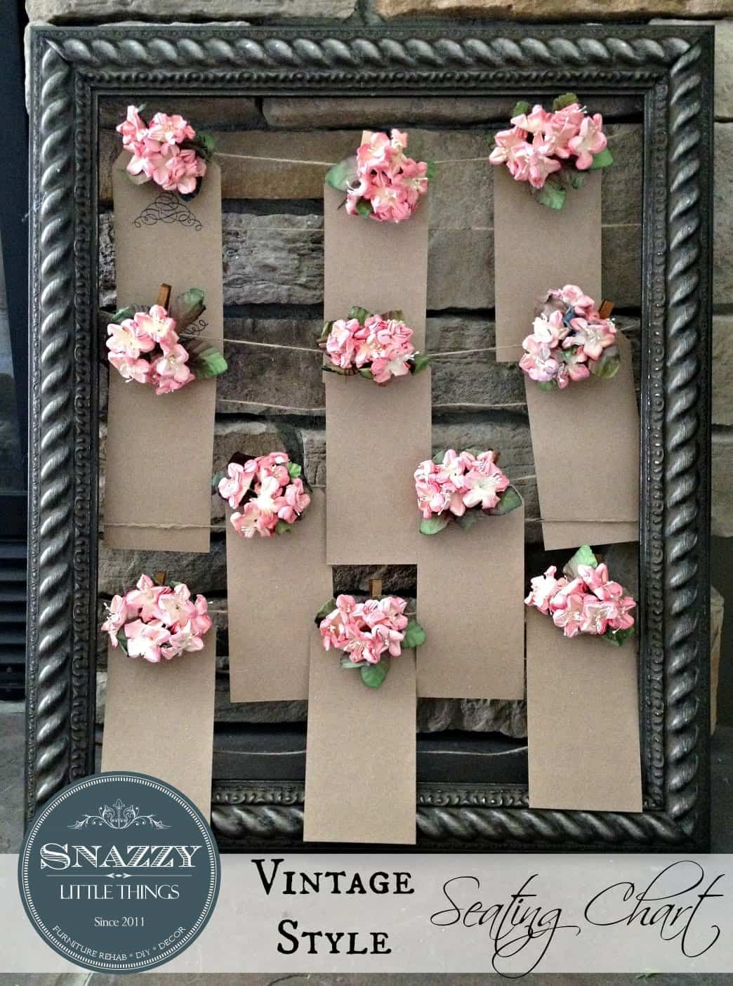 DIY: Vintage Wedding Seating Chart Craft