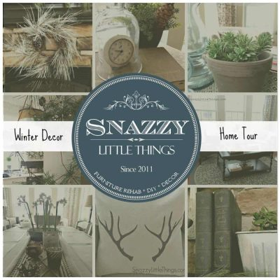 Winter Decorating Ideas Home Tour, by SnazzyLittleThings.com