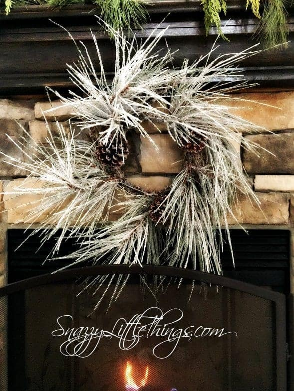 Winter Decorating Ideas Snowy Wreath