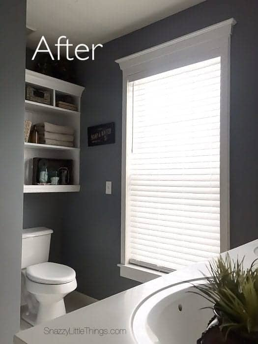 Bathroom Remodel Progress Update with Levolor Blinds - by SnazzyLittleThings.com