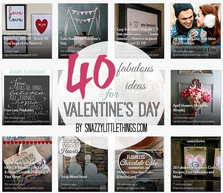 40 Fabulous Ideas for Valentine's Day   by SnazzyLittleThings.com