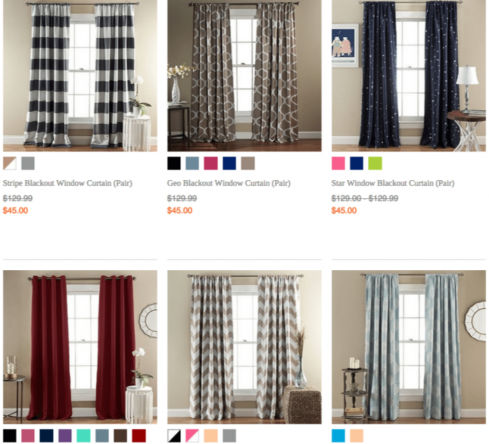 Lush Decor  Window Treatments  Blackout Curtains
