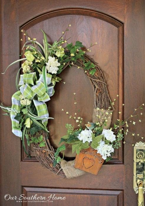 Upcycled wreath, from Our Southern Home