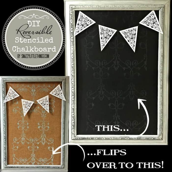 Tween Room DIY Framed Chalkboard| by SnazzyLittleThings.com