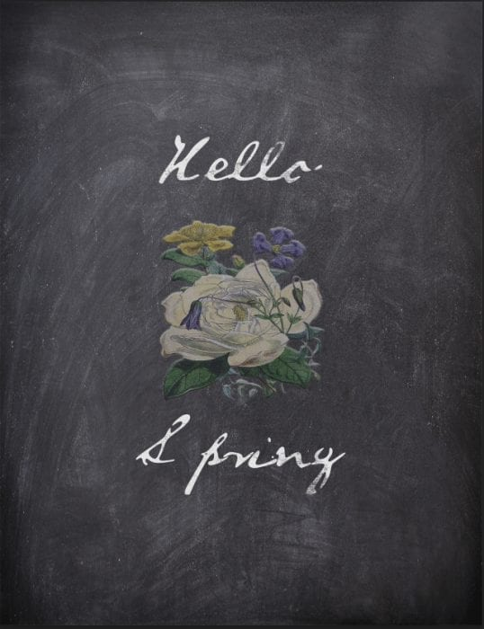 Hello Spring Free Printable | by SnazzyLittleThings.com