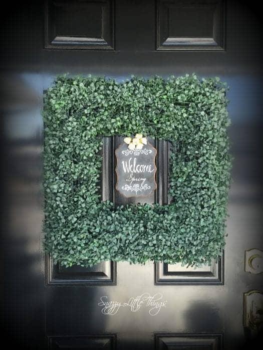 Square Front Door Wreath