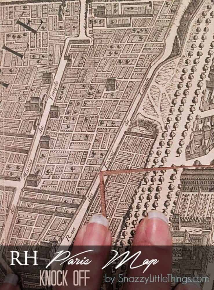 Restoration Hardware Paris Map Knock Off | by SnazzyLittleThings