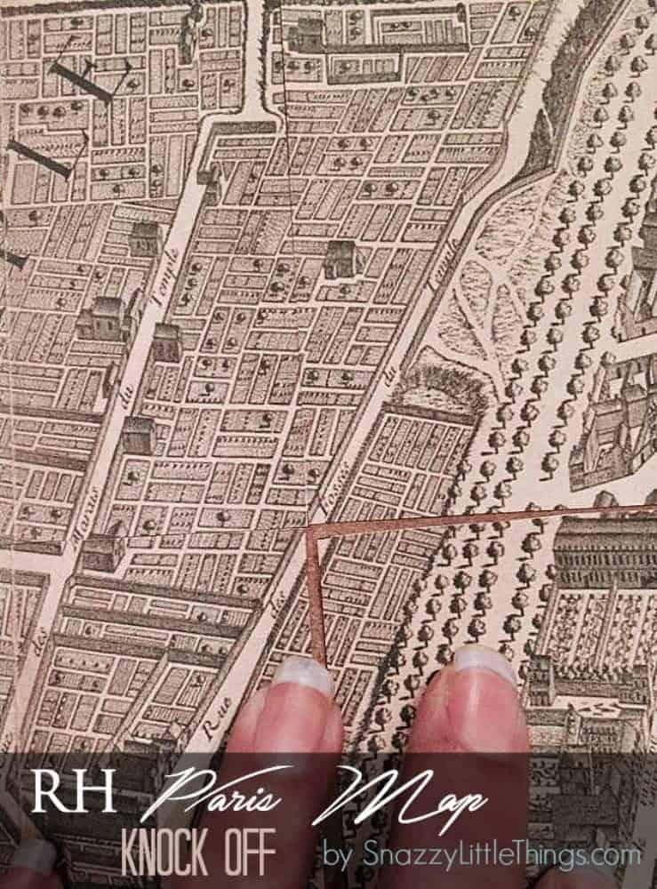 Restoration Hardware Vintage Map Art Snazzy Little Things - Restoration hardware paris map