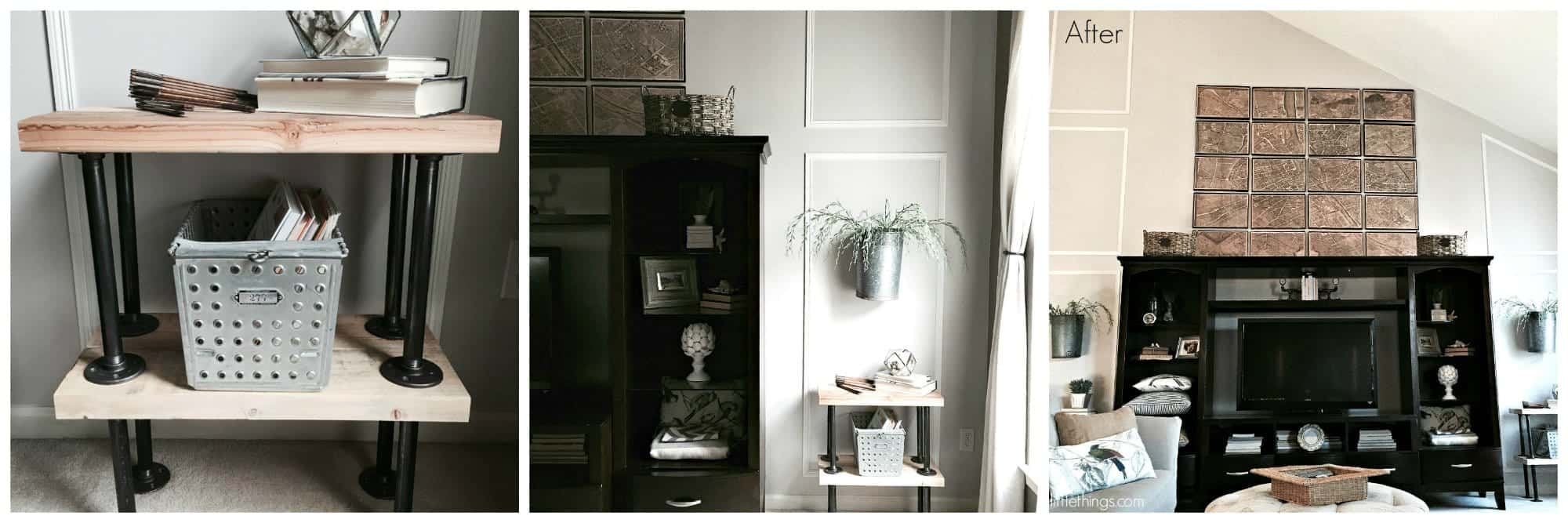 Family Room Makeover by SnazzyLittleThings.com