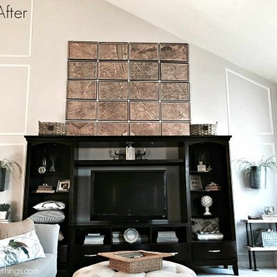 A video progression of our family room makeover