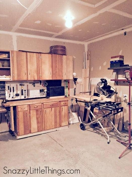 Woodshop in Progress | by SnazzyLittleThings.com